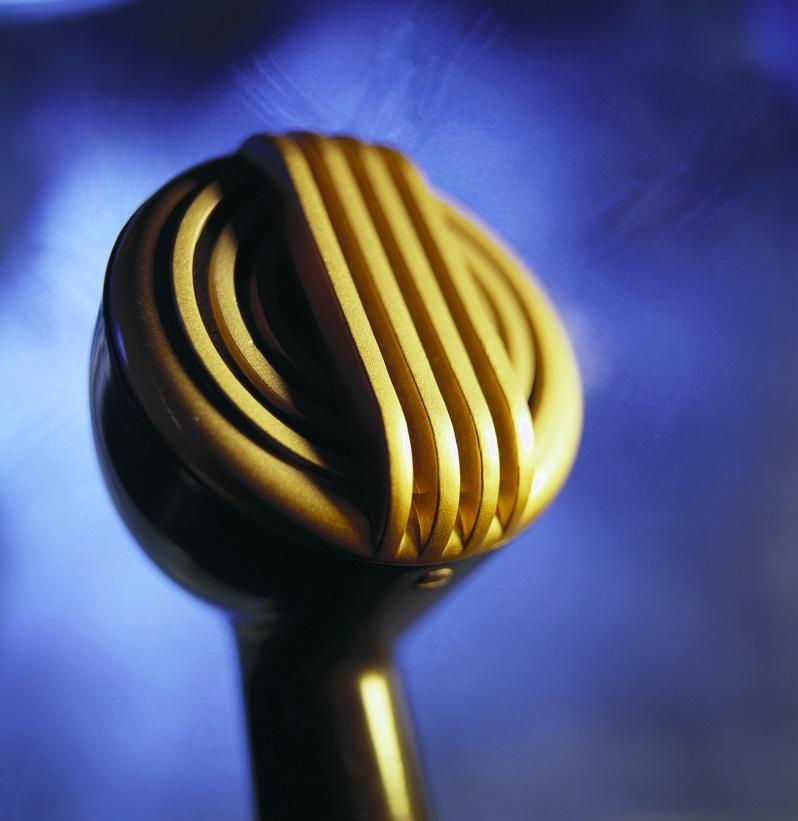 تصویر میکروفون زیبا و طلایی